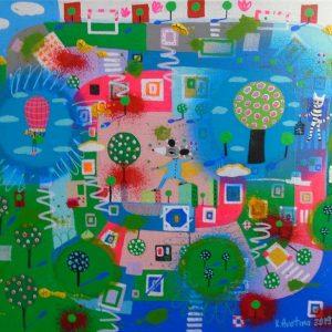 """Distance Yourself"" - Painting by Katrina Avotina"