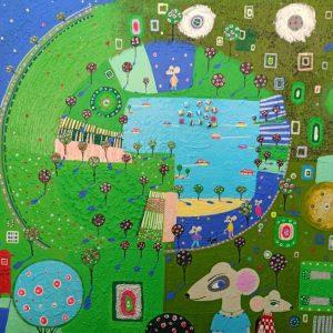 """Katrina Avotina Painting - """"Take It Easy"""""""