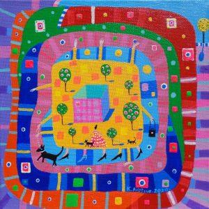 "Katrina Avotina Painting - ""Funstruck"""
