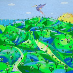 "Katrina Avotina Painting ""The Golden Mountain Story"""