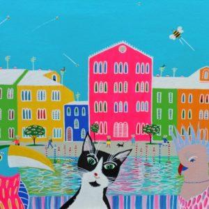 "Katrina Avotina painting - Adventures of Jimbo - ""My First Trip Abroad"""