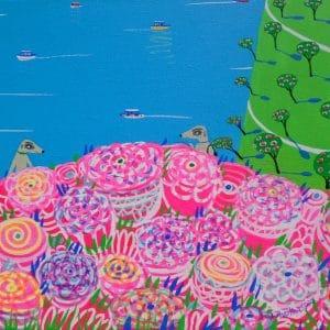 """Katrina Avotina Painting - """"Enjoying The Roses"""""""