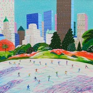 """Katrina Avotina Painting - """"A City Like No Other"""""""