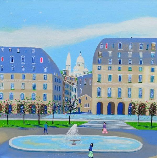 "Katrina Avotina Painting - ""Montmartre, Je t'aime!"""