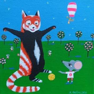 """Katrina Avotina Painting - """"Who Are You?"""""""