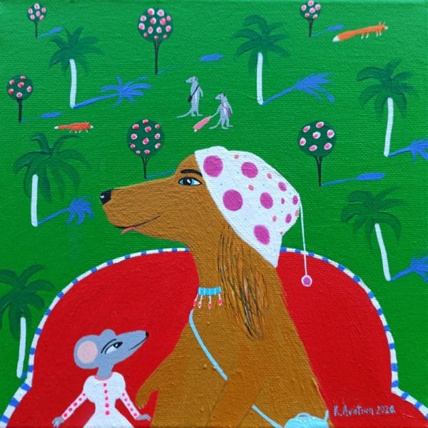"Katrina Avotina Painting - ""Bon Voyage"""
