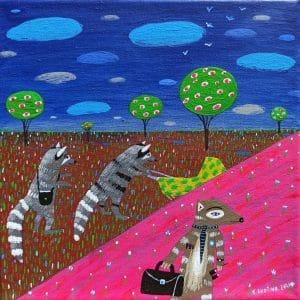 """Katrina Avotina Painting - """"On The Run"""""""