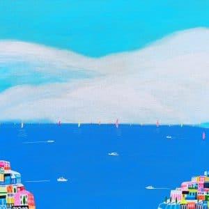 "Katrina Avotina Painting - ""Destination Amalfi"""
