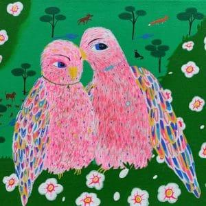 """Katrina Avotina Painting - """"Hey, Listen Carefully!"""""""