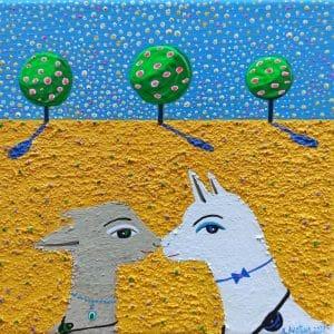 """Katrina Avotina Painting - """"Because Of You"""""""